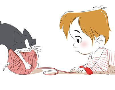 """CHILDREN BOOK ILLUSTRATION : """"Pensez à créer du lien"""""""