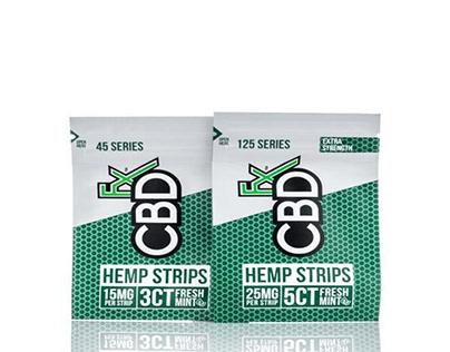 Shop CBDfx Sublingual Hemp Strips Fresh Mint