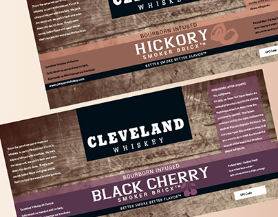 Label Design for Bourbon Infused Barbeque Smoker Wood
