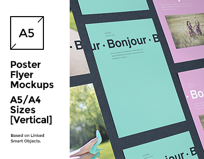 A5/A4 Flyer/Poster Mock-up's