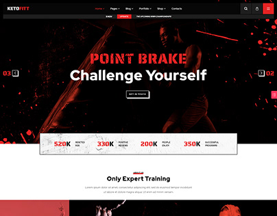 KetoFitt - Fitness & GYM WordPress Theme