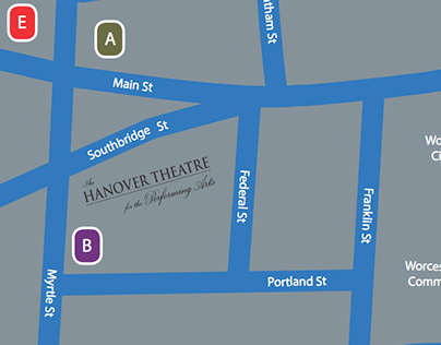 Map and Directions - The Hanover Theatre