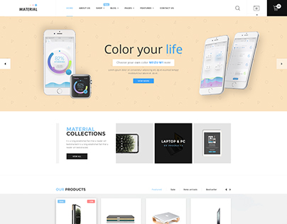 Material - Electronics WordPress Theme