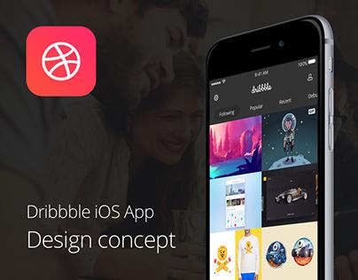 Dribbble iOS App - Design concept