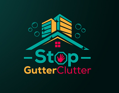 Playful logo for residential and commercial cleaning co