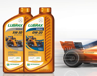 adesivo de vidraça Lubrax + McLaren