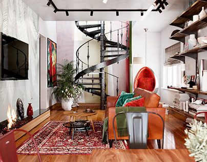 design project loft apartment
