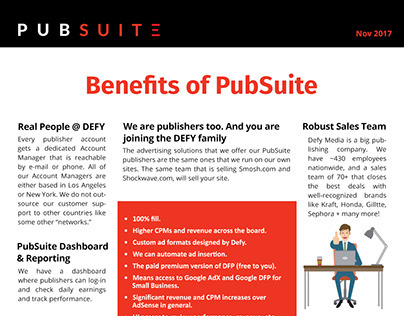 PubSuite Benefits Sheet