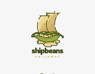 ship and beans logo combination