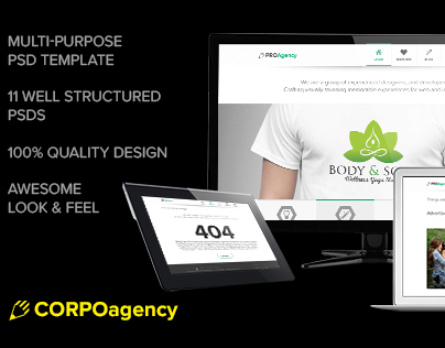 Multi-Purpose PSD web template