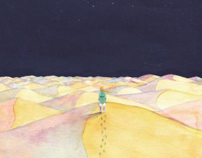 "Book jacket illustration for ""The Little Prince."""