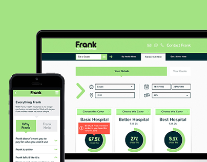 FRANK HEALTH INSURANCE - UI/UX Design
