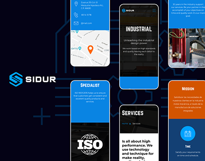 SIDUR: Website design