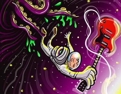 """Escape the Black Hole"" Illustration"