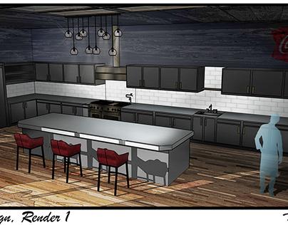 Custom Kitchen Design Renders w/ 2 Views