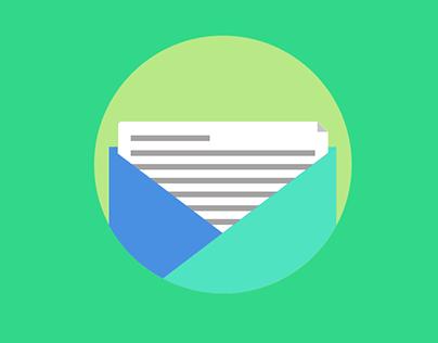 Letter - Flat Design