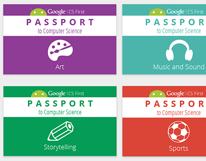 Google CS First Passports and Badges