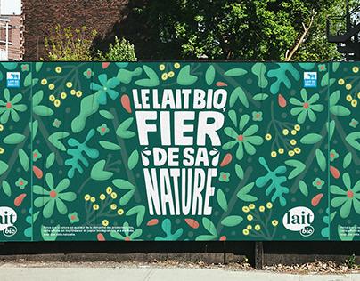 Lait bio - La campagne biodégradable