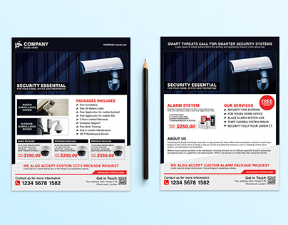 Security System / CCTV Flyer templates