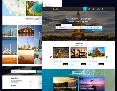 Travel Web Template.