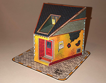 """""""House of Pie"""" paper model project"""