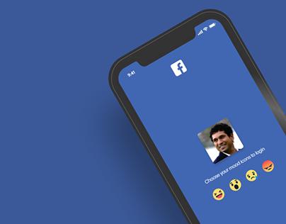 Facebook mobile app login screen Redesign