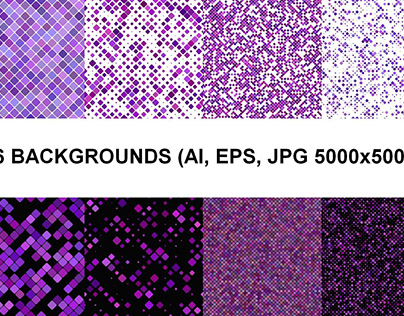16 Seamless Purple Square Backgrounds