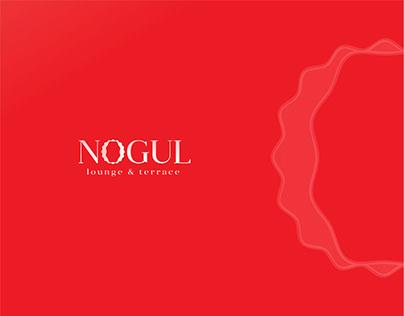 """Nogul"" lounge & terrace logo branding"