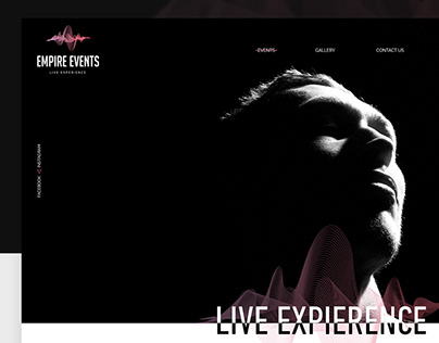 Empire events. Web design