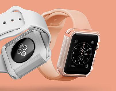 Platinum Apple Watch Case