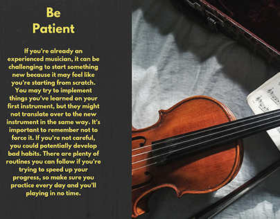 Tips For Learning a New Instrument