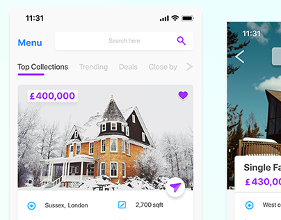 Real Estate App Screen