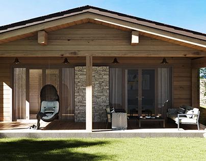 Log house design / Дом из клееного бруса