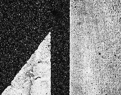 Black Asphalt & White Paint