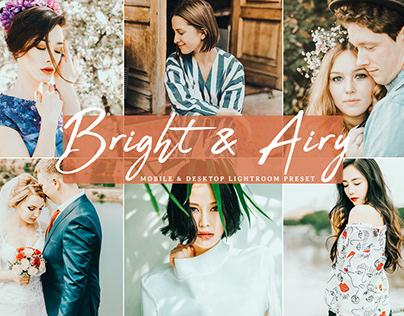 Free Bright & Airy Mobile & Desktop Lightroom Presets