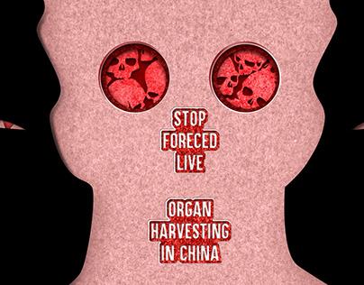 Stop Organ Harvesting - Poster Design