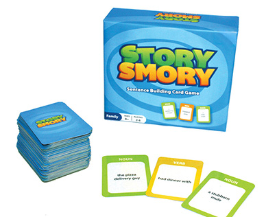 Story Smory Logo, Game Materials, & Packaging