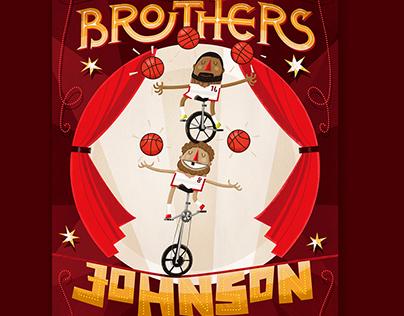 The Brothers Johnson / Miami Heat Illustration