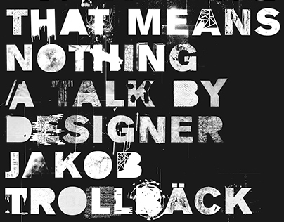 Jakob Trollbäck Lecture Poster / Collab with Students