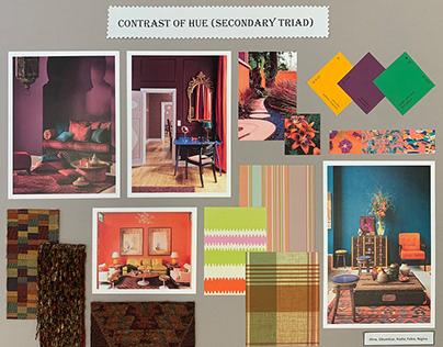 Sample boards. Colour contrast