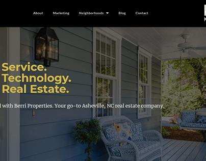 Berri Properties Real Estate Web Design
