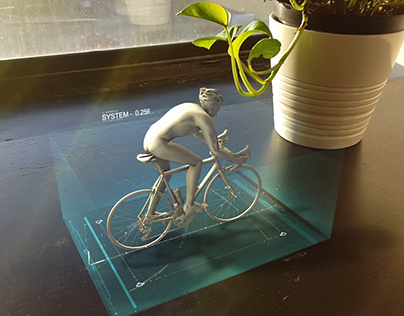 3D Bicycle Hologram [Aftereffects + 3dsMax]