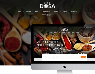 Live Dosa - Website Mockup