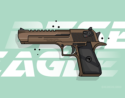 DESERT EAGLE PISTOL (VECTOR ART)