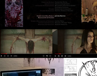 Storyboard Diseño realización para Pelicula Luciferina