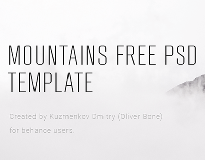 MOUNTAINS FREE PSD