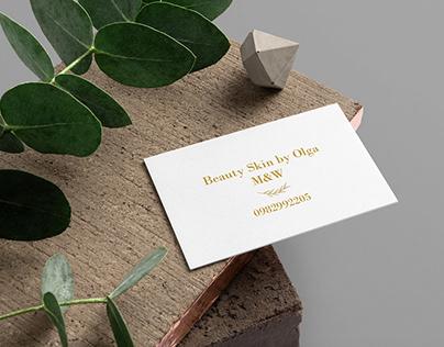 Business card for a cosmetologist | Визитная карта