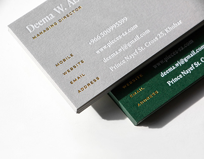 Business Cards, Books & Printed Collateral