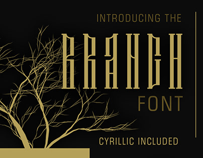 Branch font latin and cyrillic