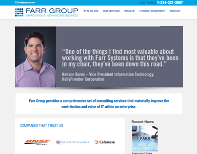 Responsive rebrand of IT Consulting Firm